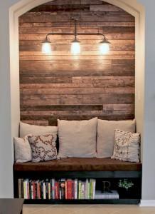 wood wall detail, wood wall nook